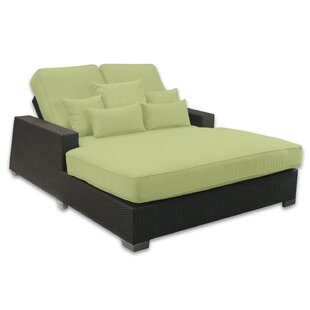 Patio Heaven Signature Double Chaise Lounge with Cushion
