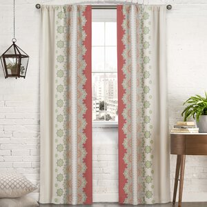 Mantra Nature/Floral Room Darkening Thermal Rod Pocket Curtain Panels (Set of 2)