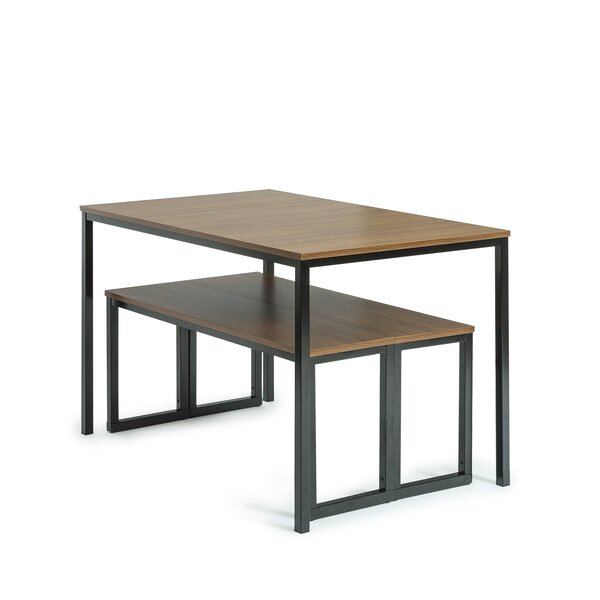Outstanding Modern Contemporary Dining Table And Bench Set Allmodern Machost Co Dining Chair Design Ideas Machostcouk