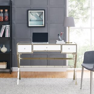 House of Hampton Portnoy Hollywood Regency Mirrored Console Table
