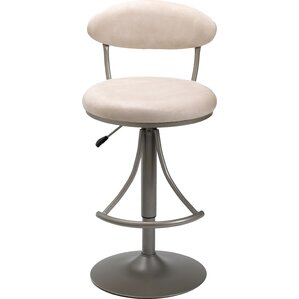 Elon Adjustable Height Swivel Bar Stool by Latitude Run