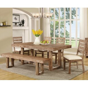 Laurel Foundry Modern Farmhouse Hollingshead 6 Piece Dining Table Set