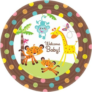 Fisher Price Baby Shower Banquet Paper Disposable Dinner Plate (Set of 8)
