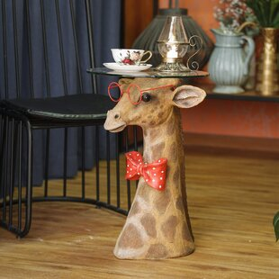 Rice Fashionable Giraffe End Table by World Menagerie