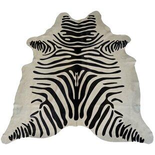 Read Reviews Designer Cowhides Printed Zebra Black/White Area Rug ByTrophy Room Stuff