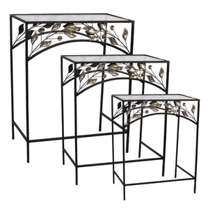 Coombs Traditional 3 Piece Metal Nesting Table Set by Fleur De Lis Living
