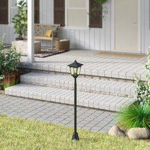 Croker Solar-Powered Mini Vintage 1-Light LED 42 Post Light By Darby Home Co Outdoor Lighting
