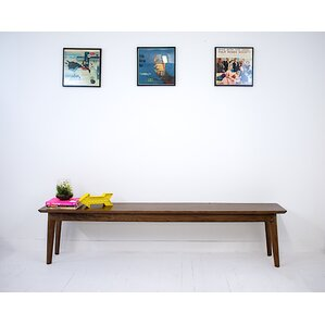 Santa Monica Wood Bench by Moderncre8ve