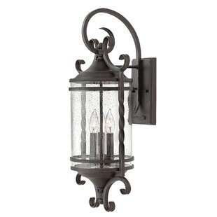 Online Reviews Carlyle 3-Light Outdoor Wall Lantern By Fleur De Lis Living