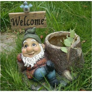 Welcome Polyresin Gnome Statue by Mr. MJs