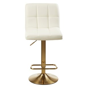 Tricia Height Adjustable Swivel Bar Stool By Wade Logan