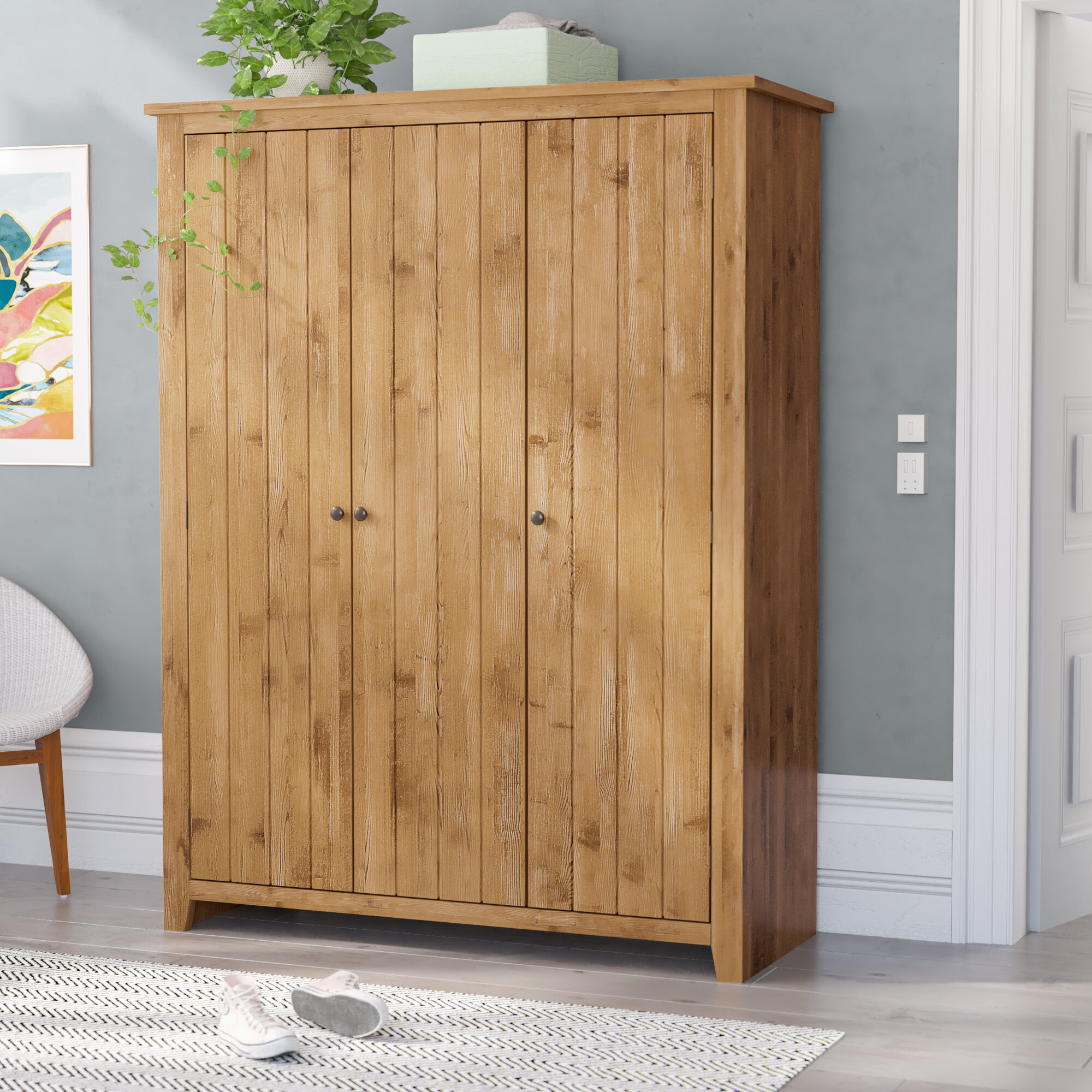 ClassicLiving Throop 3 Door Wardrobe & Reviews | Wayfair.co.uk