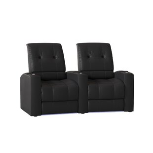 Large Blue LED Home Theater Curved Row Seating (Row Of 2) By Latitude Run