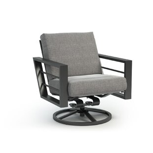 Gallagher Low Back Rocker Chat Swivel Patio Chair with Sunbrella Cushions