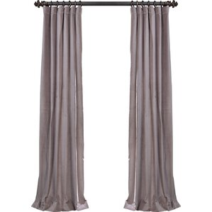 Dorthy Solid Max Blackout Thermal Tab Top Single Curtain Panel