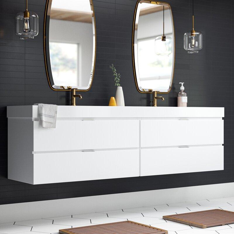 Double Modern Bathroom Vanity Set