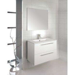 Kutz 32 Wall-Mounted Single Bathroom Vanity Set with Mirror by Orren Ellis