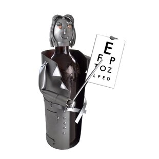 Female Eye Doctor 1 Bottle Tabletop Wine Rack