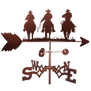 Three Cowboy Weathervane By SWEN Products