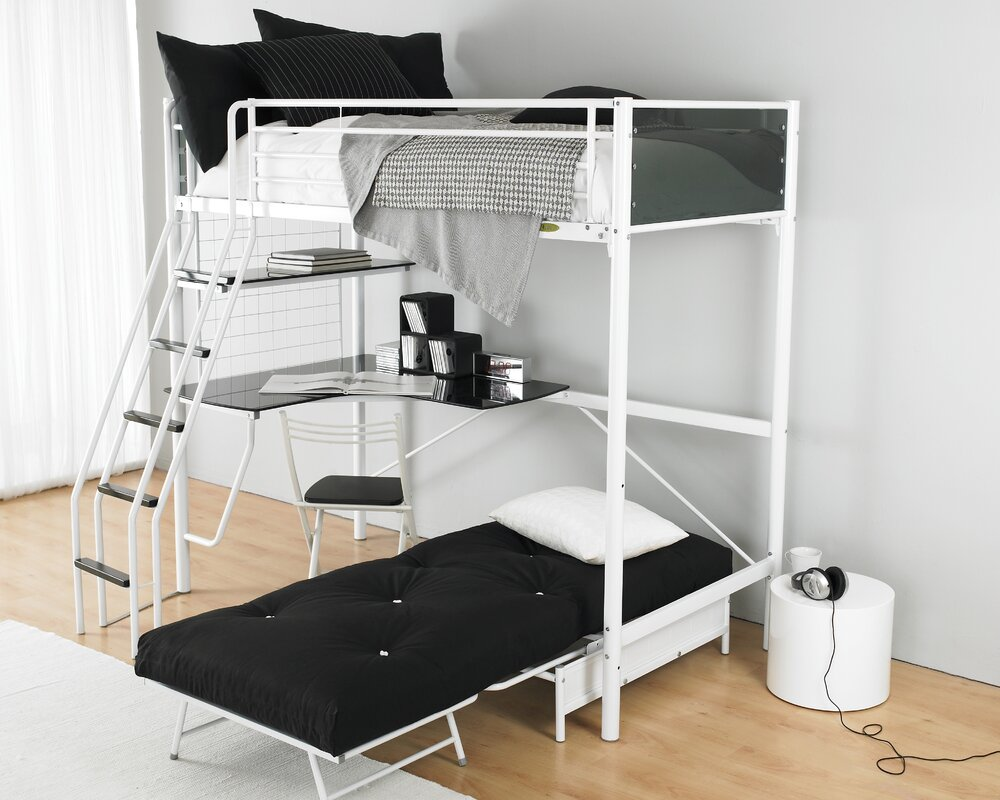 just kids peek l-shaped bunk bed & reviews | wayfair.co.uk