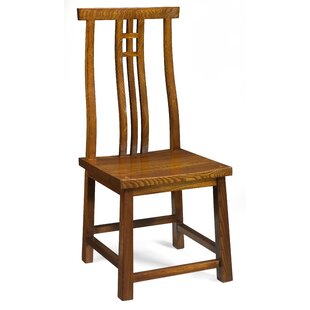 Brassfield Solid Elm Dining Chair By Rosalind Wheeler