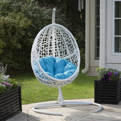 Mallett Blanca Egg Swing Chair With Stand by Bayou Breeze Read Reviews