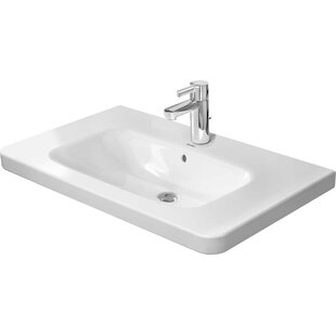 Affordable DuraStyle Ceramic Rectangular Vessel Bathroom Sink with Overflow By Duravit