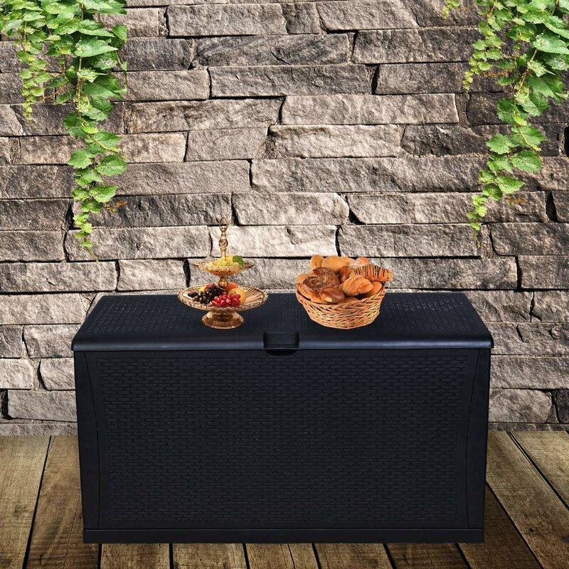 Ainfox All Weather 120 Gallon Plastic Deck Box
