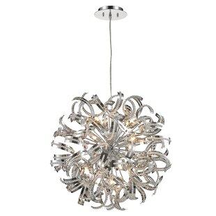 Everly Quinn Stephenie 1 Tier Crystal 13-Light Globe Chandelier