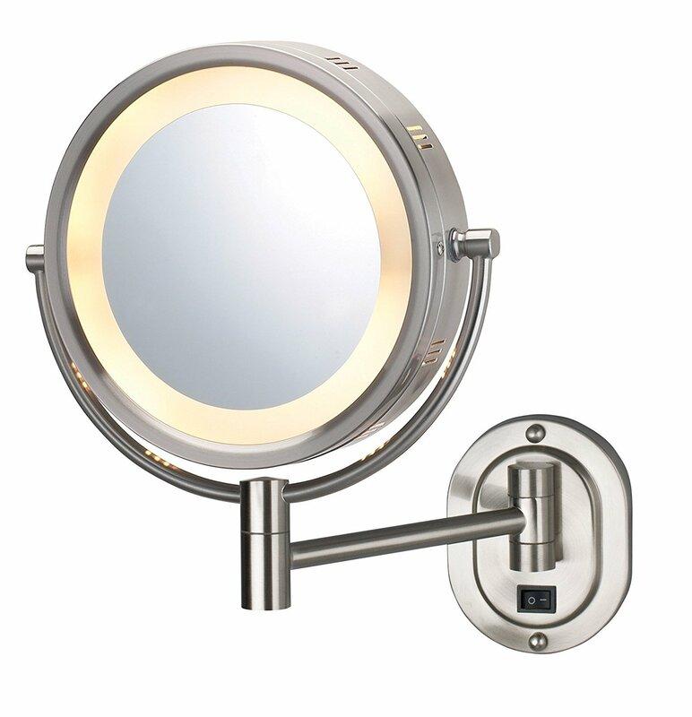 Symple Stuff Lighted Wall Mount Bathroom Vanity Mirror