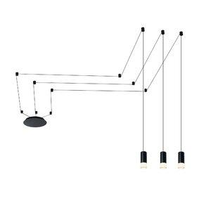 Quaoar 3-Light LED Geometric Pendant by Brayden Studio