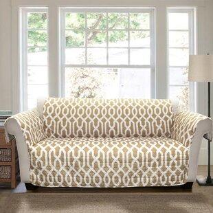 Alcott Hill Caledonia Trellis Box Cushion Sofa Slipcover