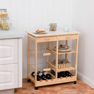 Gillman Rolling Kitchen Cart by Charlton Home