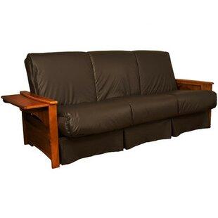 Brown Leather Futon | Wayfair