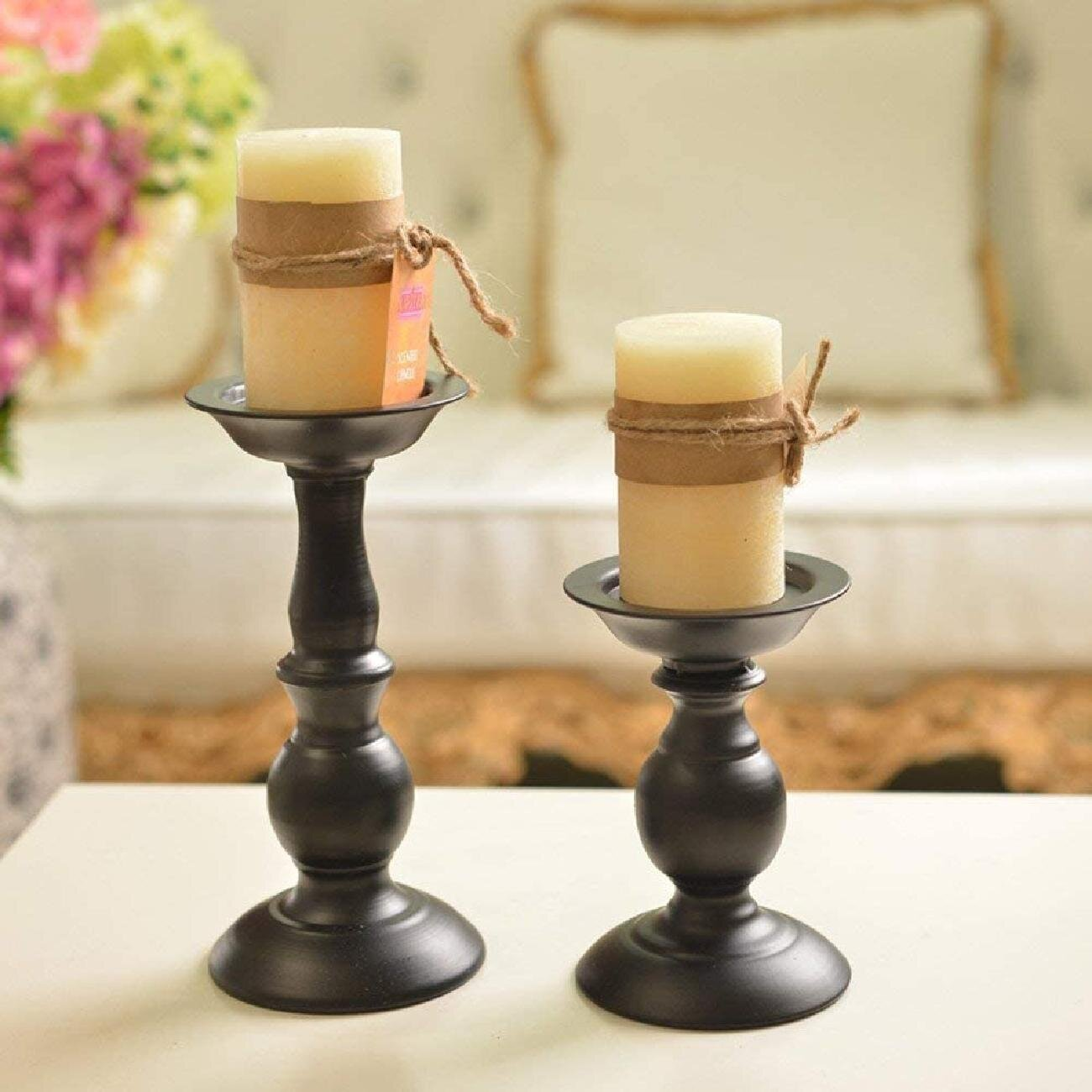 Black 20 Pcs Iron Pillar Candle Holders, Most Ideal For 20 Inches Pillar  Candles Or Flameless Led Candles, Gifts For Wedding, Party, Home, Spa,  Reiki, ...