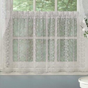 Priscilla Lace Kitchen Tier Curtain (Set of 2)