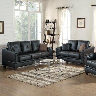 Red Barrel Studio Soules 2 Piece Leather Living Room Set