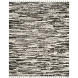 Find a Shatzer Hand-Woven Black Area Rug By Wrought Studio