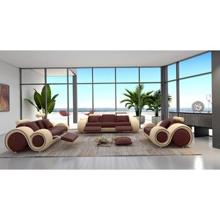 Affordable Behr 3 Piece Leather Living Room Set by Orren Ellis Reviews (2019) & Buyer's Guide