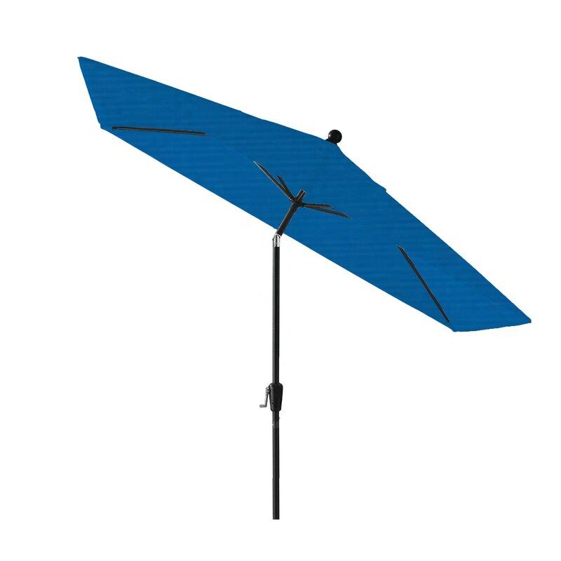 Breakwater Bay Wiechmann9 W X 7 L Rectangular Market Sunbrella Umbrella Reviews Wayfair