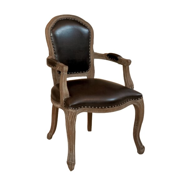 Incroyable Home Loft Concepts Carolina Leather Weathered Wood Armchair U0026 Reviews    Wayfair