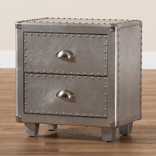 Rayfield Metal 2 Drawer Nightstand by Williston Forge