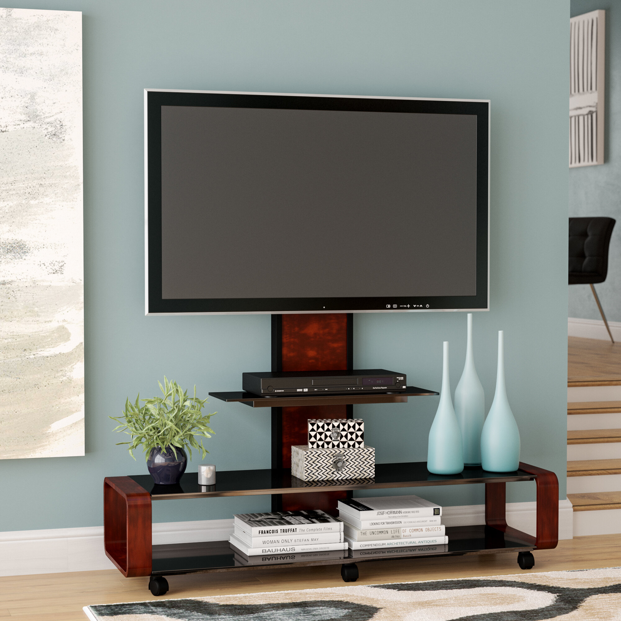 Latitude run stemple tv stand for tvs up to 85 reviews wayfair