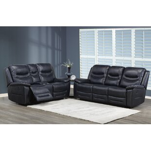 Louviere 2 Piece Reclining Living Room Set