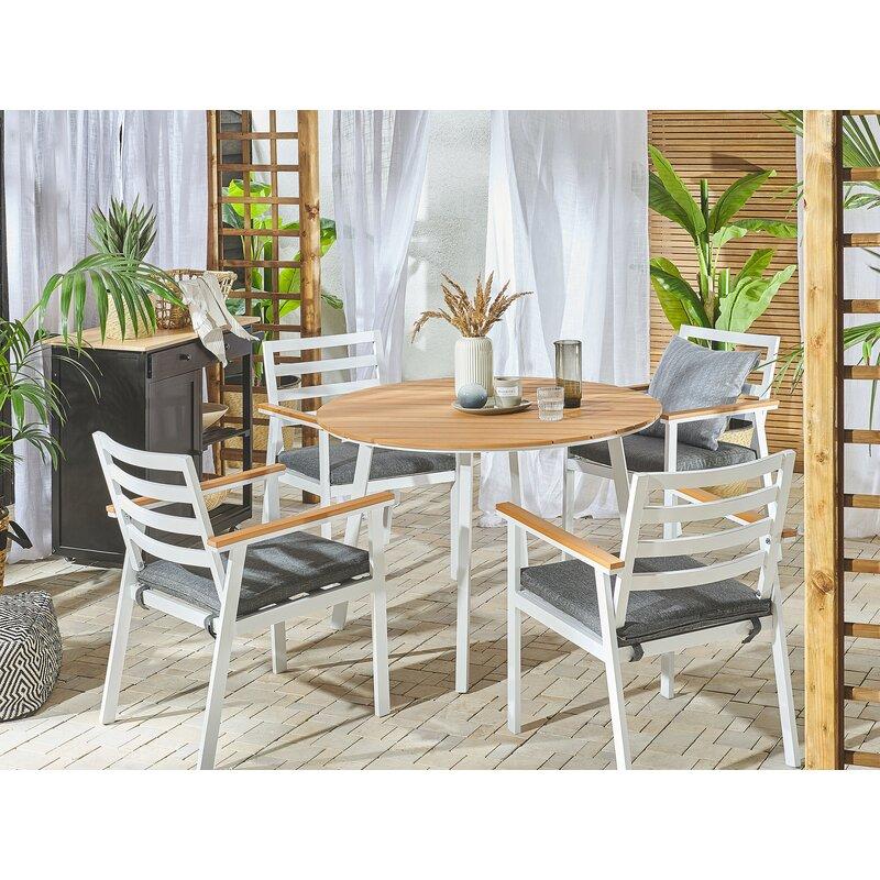 Dakota Fields Ejder 4 Seater Dining Set With Cushions Wayfair Co Uk