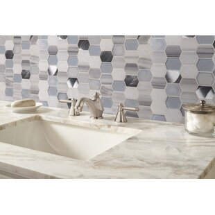 Harlow Picket Glass/Stone Mosaic Tile in Gray