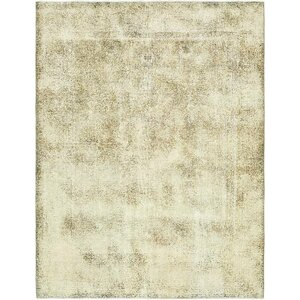 Sela Traditional Vintage Persian Hand Woven 100% Dyed Wool Distressed Ivory Area Rug