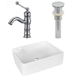 Looking for Ceramic Rectangular Vessel Bathroom Sink with Faucet By Royal Purple Bath Kitchen