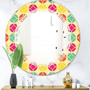 Decor Bathroom Shopping East Urban Home Wave Leopard Fur Safari Iii Eclectic Frameless Wall Mirror On