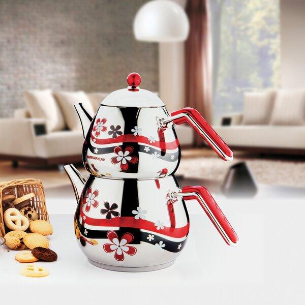 Ebern Designs Roan Papatya 4 Oz Stovetop Safe Teapot Wayfair